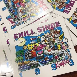 Pack of 20 brandy Melville chill stickers